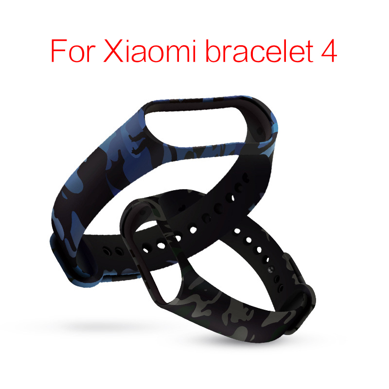 Smart Accessories Replacement Silicone WristBand WristStrap For Mi Band 4 Bracelet Camouflage Bracelet Compatible For MI Band 4