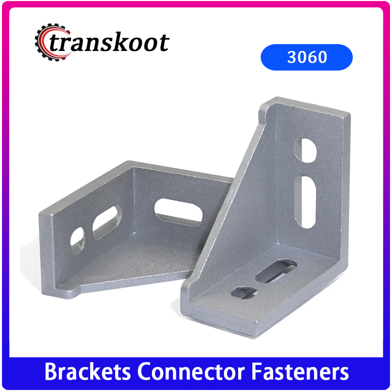 10pcs Corner Fitting Angle 30x60 Decorative Corner Brackets Accessories L Connector Fasten Connector For 3030 Aluminum Profile
