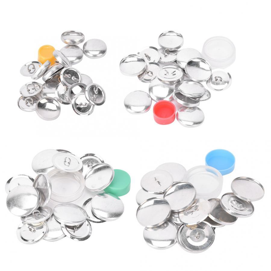 Saco de pano capa botões kit botão redondo base de botões de pano diy conjunto artesanal artesanato fivela fazendo artesanato semi-acabado acessório