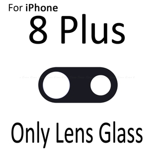 Image 2 - New Back Rear Camera Glass Lens Ring Cover For iPhone X 7 8 Plus With Frame Holder Replacement Parts