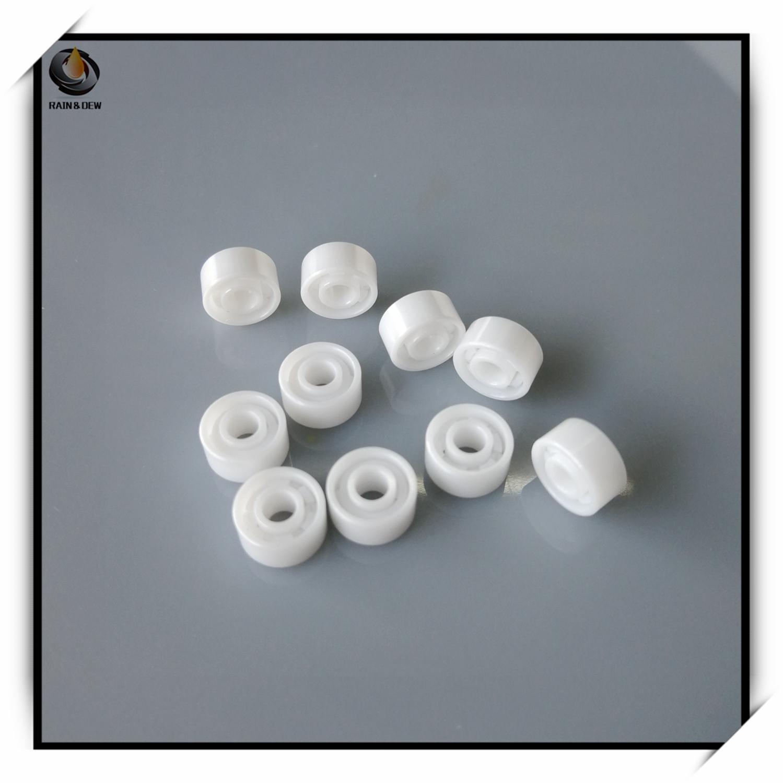 1Pcs 693  Full Ceramic Bearing  ABEC-9 3X8X4 Mm  ZRO2 Zirconia Ceramic Bearing For Fishing Reel