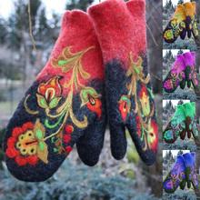 Rękawiczki zimowe rękawiczki rękawiczki damskie świąteczne modne rękawiczki damskie zimowe ciepłe rękawiczki skórzane mitenki rękawice ogrodowe Lady tanie tanio Dla dorosłych CN (pochodzenie) WOMEN Poliester Patchwork Nadgarstek Moda WSL571a