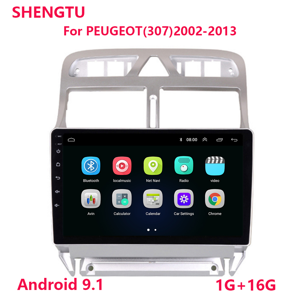 2din Android 9.1 Car DVD Multimedia Player For Peugeot 307 307CC 307SW 2002-2013 Car Radio GPS Navigation WiFi Bluetooth Player