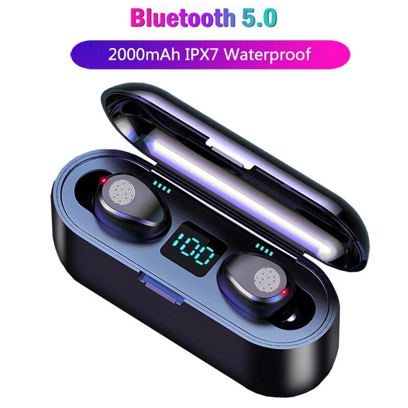 Sports Headphones Wireless Earphones Bluetooth Handsfree Gaming Headset True Wireless Earbuds Bass Earphone For Iphone Mobile