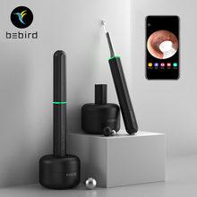 Nova bebird x17 pro inteligente visual de limpeza da orelha endoscópio in-ear 300w mini câmera otoscópio borescope 33 em 1 colher de escolha de orelha ferramenta