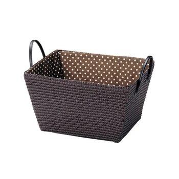 2 uds japonés gran cesto de almacenaje para ropa tejida PP caja de almacenamiento con forro de algodón, ropa juguetes a casa 46*36*25cm