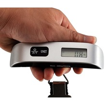 50kg/110lb Digital Electronic Luggage Scale Luggage Scales Portable Hanging Suitcase Scale Handled Travel Bag Weighting