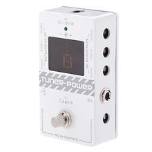 Caline Cp-09 2-In-1 Tuner and Power Supply True Bypass for Dc 9V Electric Guitar Effect Pedal Eight Isolated Outputs Multifuncti caline p6 guitar effect pedals power supply 8 isolated outputs 110v 120v 220v 240v dc 9v short circuit protection led indicator