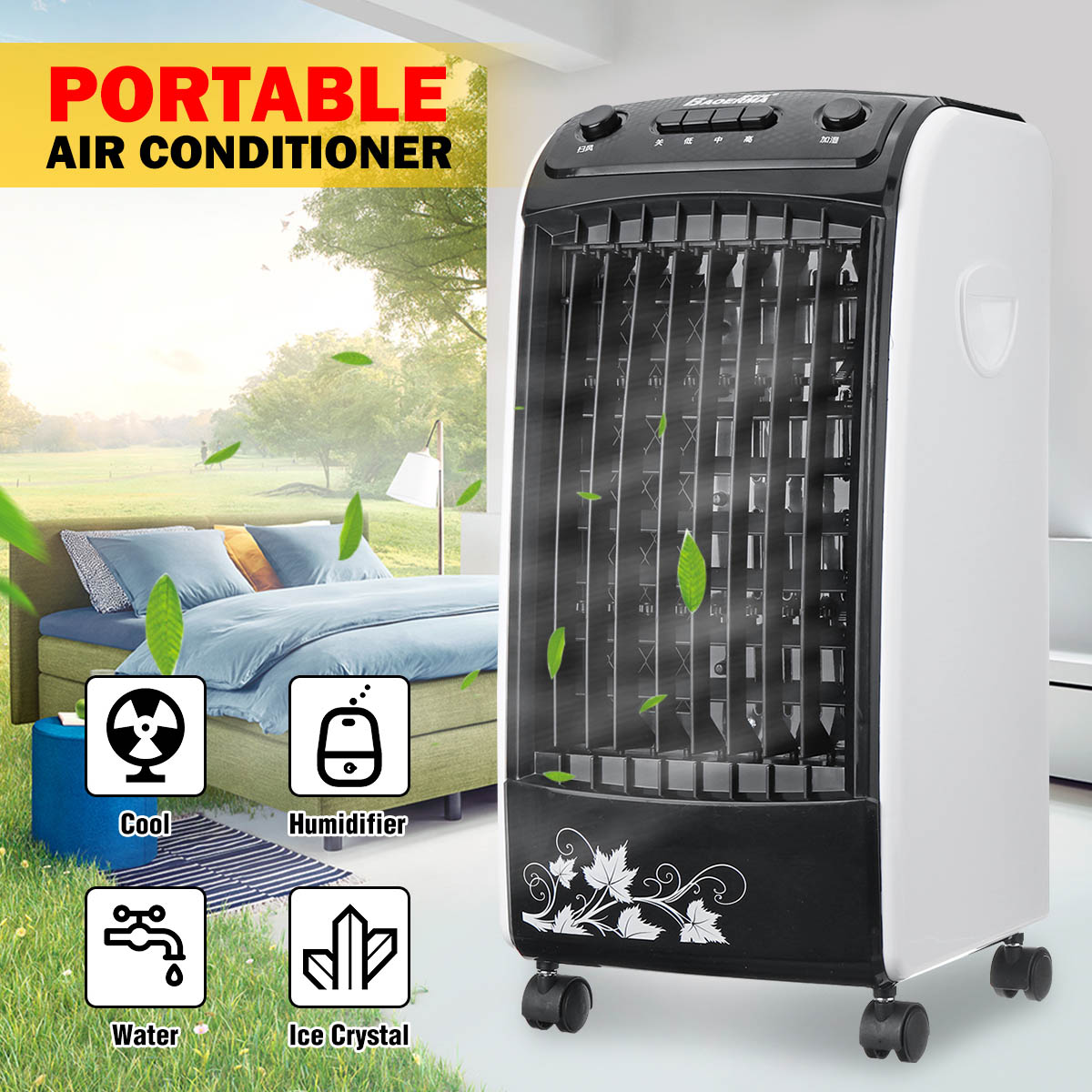 Portable Air Conditioner Conditioning Fan Humidifier 220V Home Electric Cooler Ventilator Air Conditioning With 5 Ice Crystal
