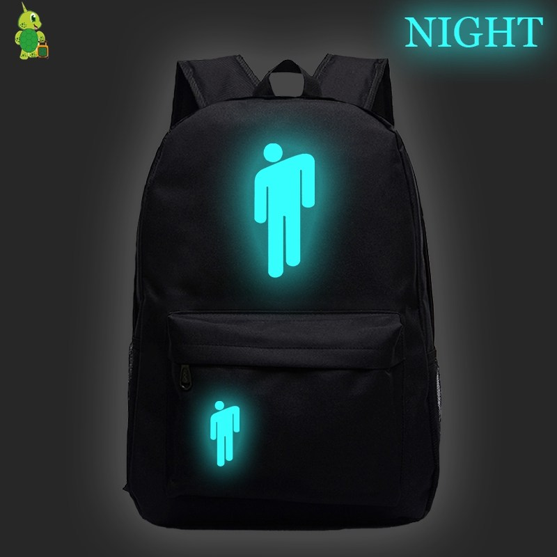 Billie Eilish School Bags Mochila Feminina Backpack For Teenage Boys Girls Luminous Laptop Backpack Kids Bookbags Travel Bags