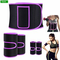5Pcs/Set Waist Trimmer Belt, Legs Arms Trainer Weight Loss Wrap Slimmer Kit Best Trainer Sweat Belly Band Slimming Body Shaper