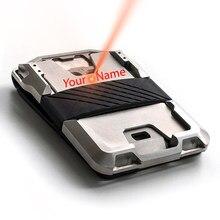 Portefeuille métallique en Aluminium Rfid pour hommes, porte-cartes d'identité, banque, antivol, sac d'argent tactique pratique, 2020