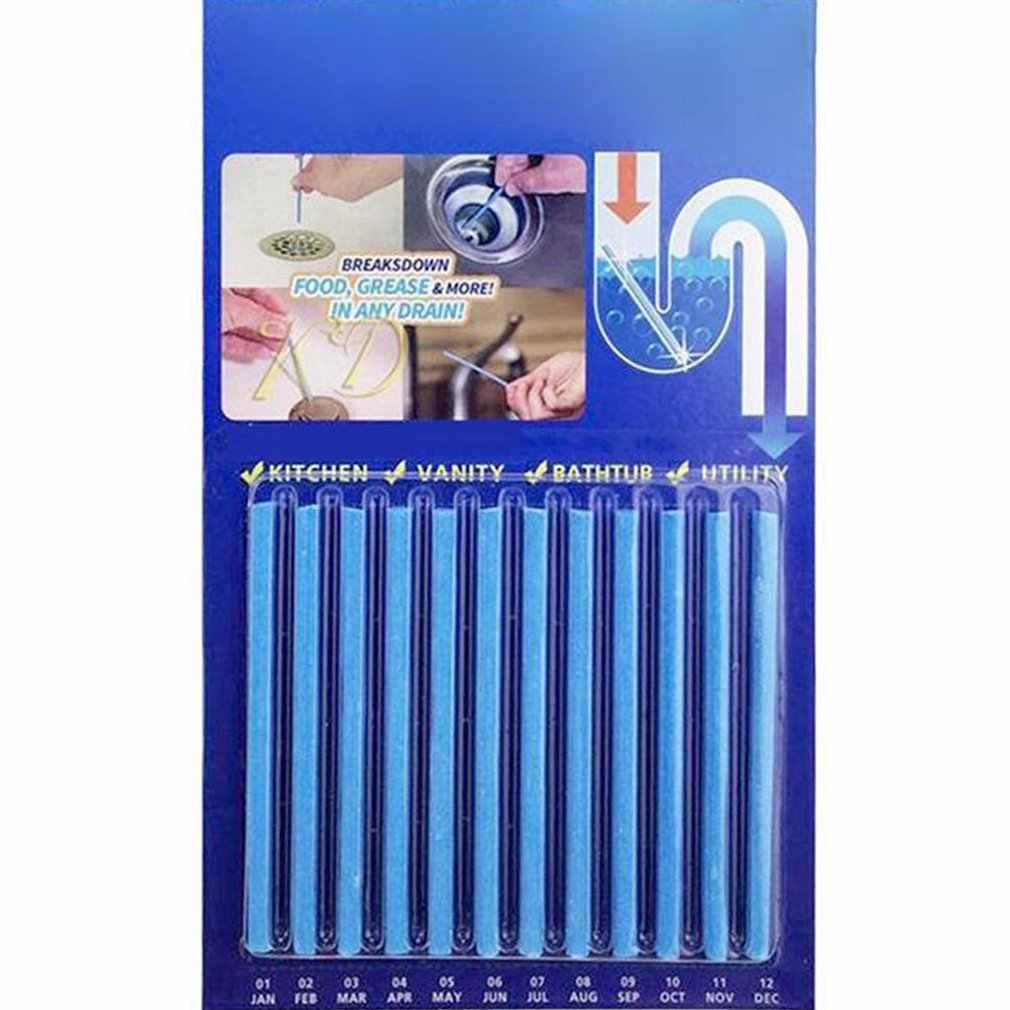 12 pçs/pçs/set varas de descontaminação de esgoto para desodorante a cozinha banheiro banheira dreno cleaner esgoto haste limpeza