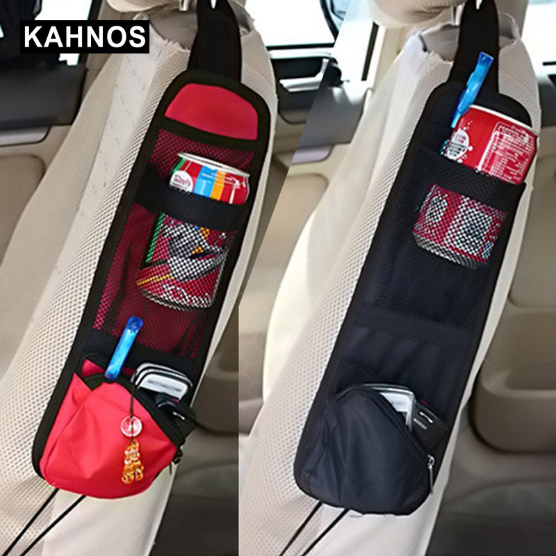 New Car Seat Storage Bag Car Organizer For Stowing Tidying Auto Seat Side Bag Hanging Pocket Non-woven Fabric Bags Car-styling