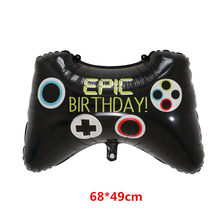 Big Black Gamepad Boy Inflate Toy GAME ON Foil Balloon Happy Birthday Decoration Game Match Props Gaming Tool Ball Air Global(China)
