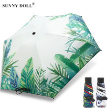 Цветочный мини Карманный Зонт женские маленькие Зонты солнцезащитный