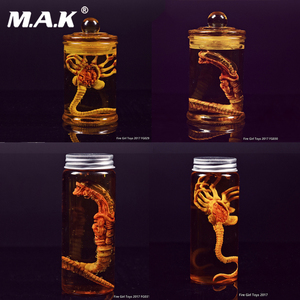 Facehugger Set Chestburster set 1/6 Scapredator Alien Predator Alien Larva Face Bug Culture Tank Set For 12