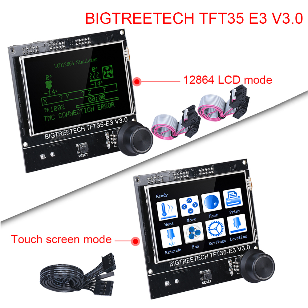BIGTREETECH TFT35 E3 V3.0 Touch Screen/12864 LCD Display Control 3.5 Inch 3D Printer Parts For Ender 3 SKR V1.3 PRO CR10 Mini E3
