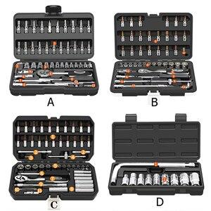Image 2 - HGhomeart el aracı Set araba tamir araçları cırcır soket anahtar alet seti toplu kafa ev onarım aracı seti