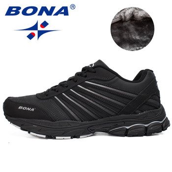 BONA New Men Running Shoes Lightweight Breathable Outdoor Walking Jogging Sneakers Athletic Shoes Comfortable Sport Shoes Men cinessd new lightweight cushioning running shoes breathable sport shoes comfortable sneakers men athletic training jogging shoes