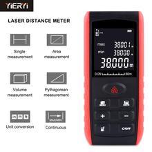 YIERYI Handheld Digita dalmierz laserowy dalmierz laserowy pomiar odległości urządzenie 40m 60m 80 100m