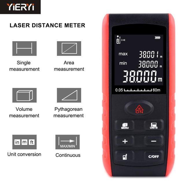 YIERYI télémètre portatif Laser règle dispositif de mesure de distance, Laser 40m 60m 80 100m