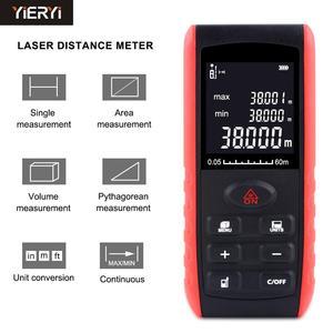 Image 1 - جهاز قياس مسافات الليزر الرقمي المحمول YIERYI جهاز قياس مسافات الليزر 40m 60m 80 100m