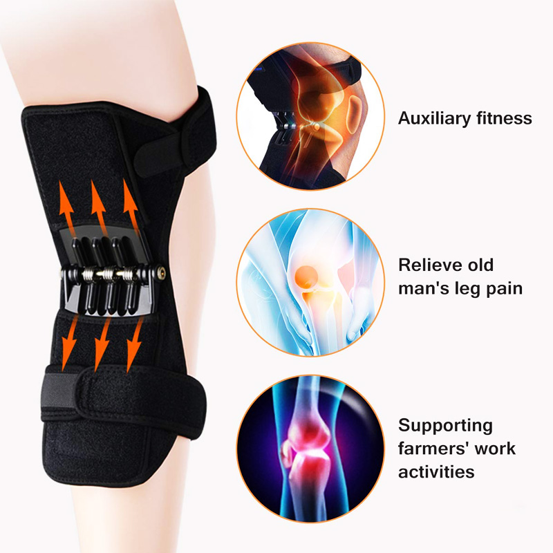 Dropshipping 1 Pair Knee Pad Safety Work Flexible Bands Knee Protection Booster Power Lift Support Pads