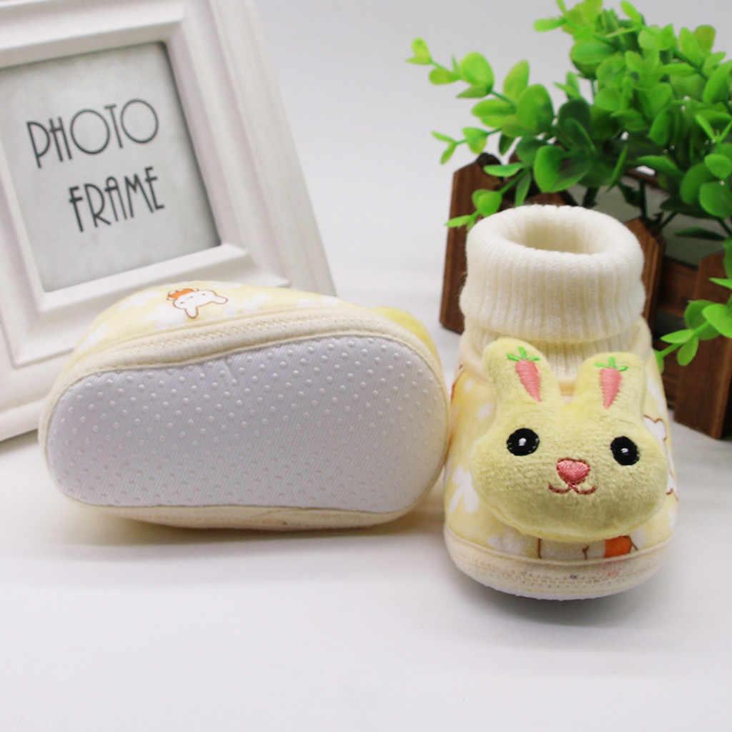 MUQGEW รองเท้าสำหรับเด็ก 2019 Novelty ทารกการ์ตูน First Walker ทารกแรกเกิดเด็กสาวกระต่ายฤดูหนาวรองเท้าความตึงกระชับรองเท้า