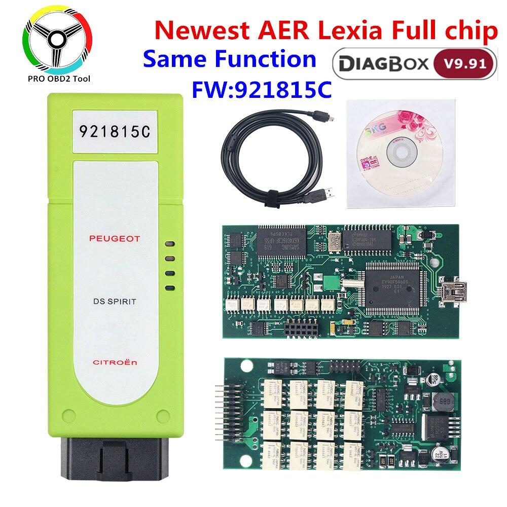 Автомобильный диагностический прибор AER LEXIA 3 Diagbox V7.83 921815C, прошивка с полным чипом Lexia3 OBD2 для Citroen Peugeot, прибор для диагностики автомобиля lexia 3...