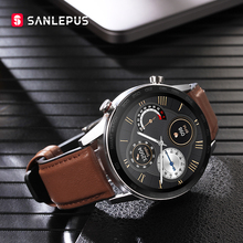 2021 SANLEPUS połączenia Bluetooth inteligentny zegarek dla mężczyzn IP68 wodoodporny Smartwatch Monitor zdrowia dla androida Apple Xiaomi Huawei OPPO tanie tanio CN (pochodzenie) Dla systemu iOS Na nadgarstek Zgodna ze wszystkimi 128 MB Krokomierz Rejestrator aktywności fizycznej
