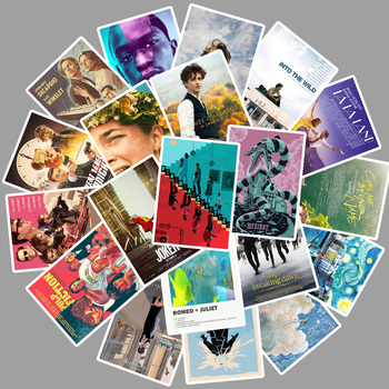 25pcs Movie Breakfast at Tiffany's/Parasite/Beetlejuice/TITANIC Stickers For Laptop PVC Water Bottle waterproof Decal Toy - discount item  17% OFF Classic Toys