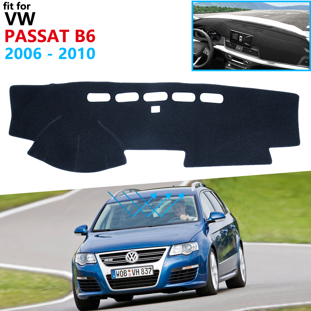 Dashboard Cover Protective Pad For Volkswagen VW Passat B6 2006~2010 3C Accessories Dash Board Sunshade Carpet Anti-UV Dashmat