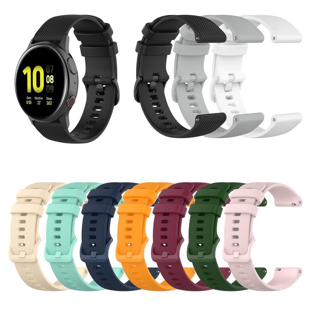 For Samsung Smartwatch Wrist Strap For Galaxy Watch 46mm 42mm / SM Active 2 44mm 40mm / Gear Sport / S3 Silicone Band Watchband