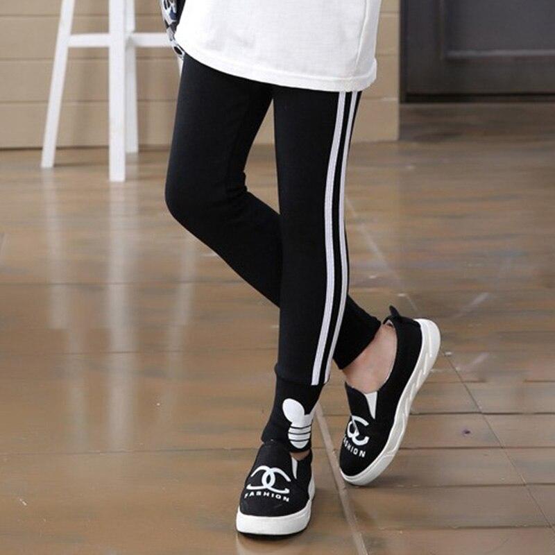 Spring Autumn Girls Leggings Pants for Girls Sport Leggings Side Stripe Children School Trousers Kids Clothing 1