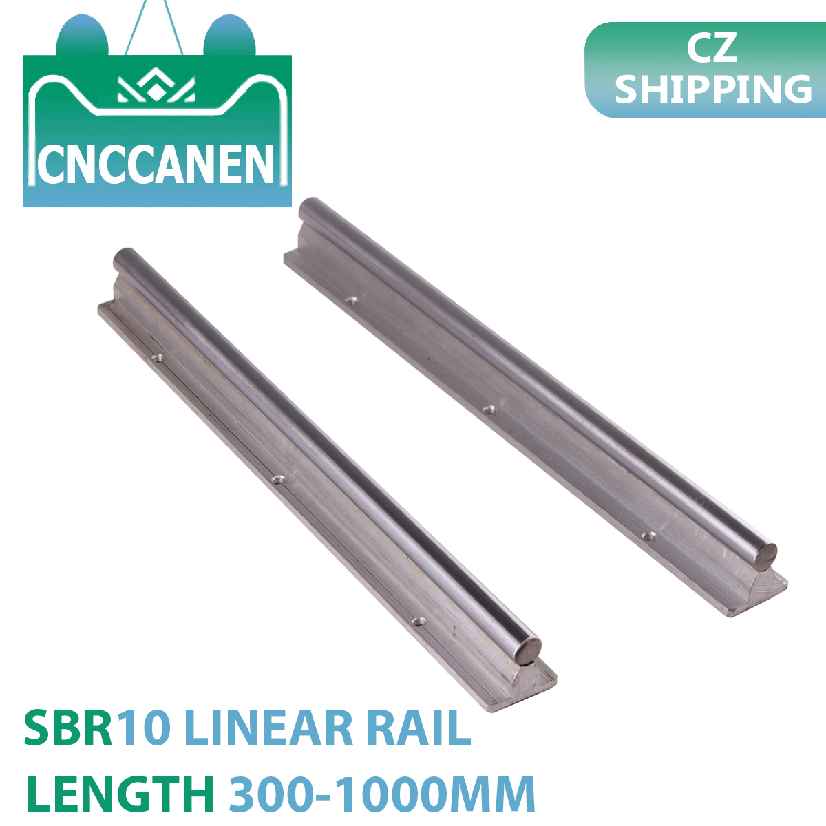 2PCS SBR10 10mm Linear Guide Rail Length 300mm 500mm 600mm 1000mm SBR Fully Supported Linear Rail For CNC Parts CZ SHIPPING