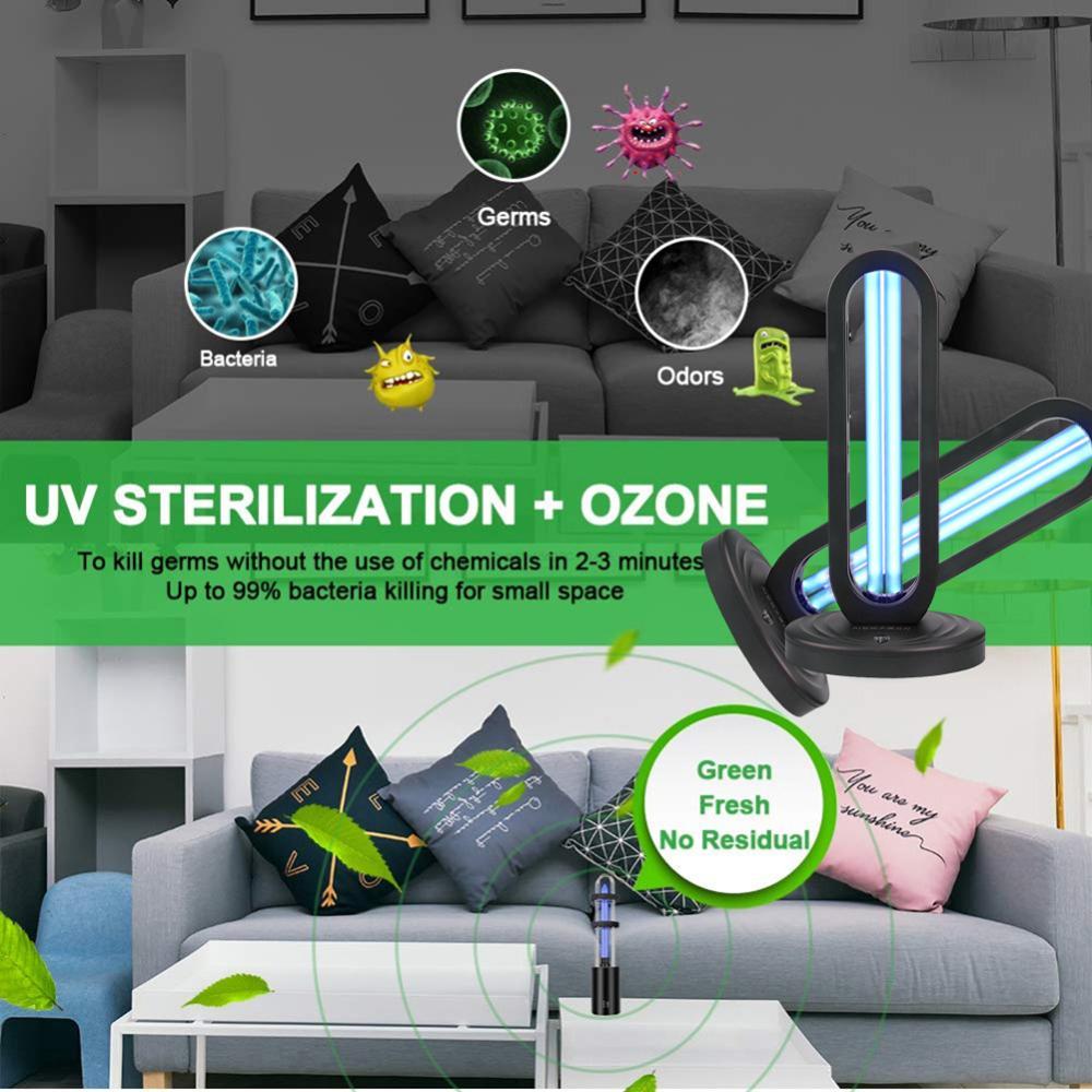 38W Three-block Timer Remote Control US/EU/UK Regulations UV Ozone Sterilization Lamp Household Medical Sterilizer