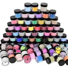 50Bottle Random Nail Art Acrylic Powder For Nail Extension Builder Dipping Polish Carving 3D Pattern Dust For Manicure Design1-5