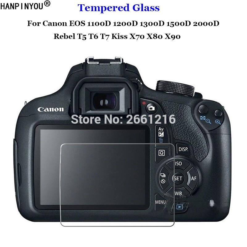 For Canon EOS 1100D 1200D 1300D 1500D 2000D Rebel T5 T6 T7 Kiss X70 X80 X90 Tempered Glass 9H Camera LCD Screen Protector Film
