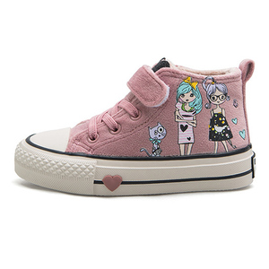Image 4 - Kids Cotton Shoes 2020 New Winter Girls Plush Princess Shoes Cartoon Childrens Sneakers Cute Students Suede Boots Girls Tennis