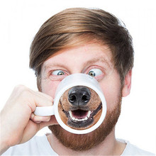Get more info on the New Creative Novelty Pure Hand-Painted Animal Cute Nose Ceramic Mug Handle Coffee Cup Handpainted Home Milk Gifte Milk Gift Cup