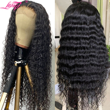 Wig Wholesale Human-Hair Lace-Front Deep-Wave Pre-Plucked 30inch Women Brazilian 4x4