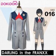 DokiDoki Anime Cosplay DARLING in the FRANXX HIRO Costume CODE:016 Uniform Men Grey  DARLING in the FRANXX Cosplay HIRO hiro kim куртка