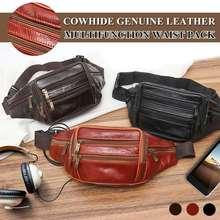 Echtes Leder Mode Männer Taille Packs Organizer Reise Taille Pack Notwendigkeit Taille Gürtel Handy Tasche
