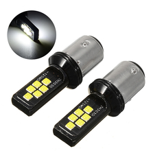 цена на Mayitr 1 Pair DC 12V 24V 12SMD 3030 LED Bulb 1157 BAY15D P21 5W Auto Turn Signal Car Brake Reverse Light 6000K White