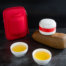 Multi-function Travel Tea Set High Temperature Bone Jade Porcelain Travel Tea Set  LXY9
