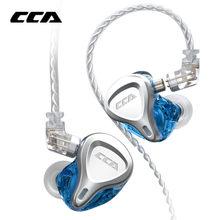 CCA CSN 1DD+1BA Hybrid Earphone In Ear Earbuds Monitor Headphones HIFI Noise Reduction Headset KZ ZSNPRO ZST ZSX ZS10PRO CCA C12