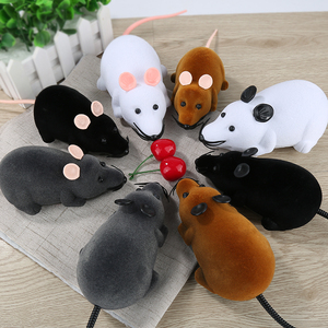 RC Animals RC Cat Pets Wireless Remote Control Rat Mouse Toy Moving Mouse For Cat Playing Chew For Cats Infrared Radio Control