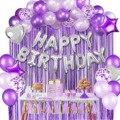 Amawill 12 дюймов фиолетовые воздушные шары для дня рождения конфетти украшения детский душ Русалка для взрослых детей Металлический воздушный...