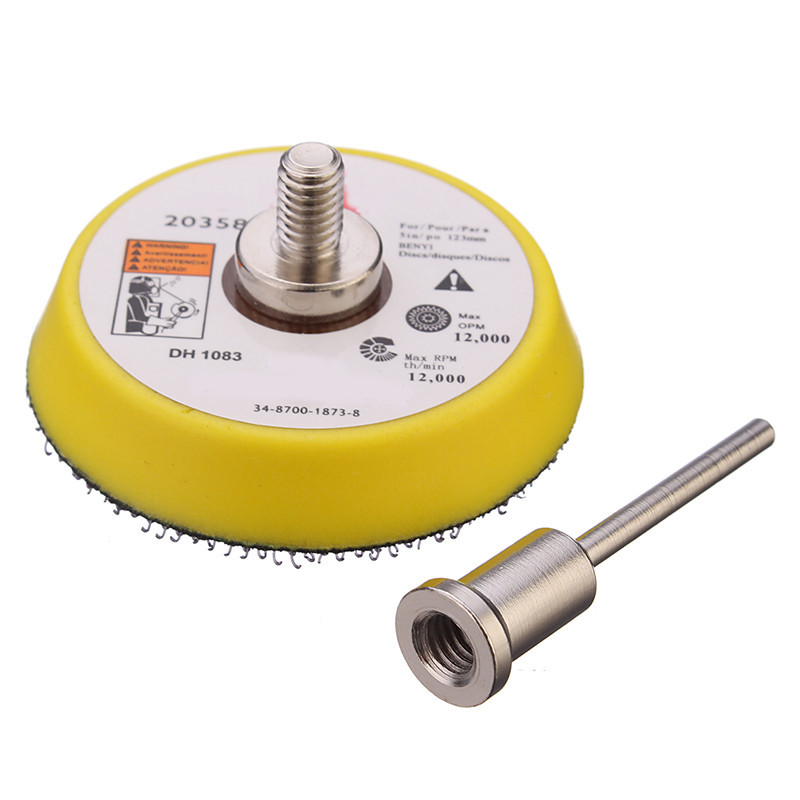 2 Inch Sander Disc Sanding Polishing Pad Backer Plate 3mm Shank Fit Electric Sanding Grinder Rotary Abrasive Tool